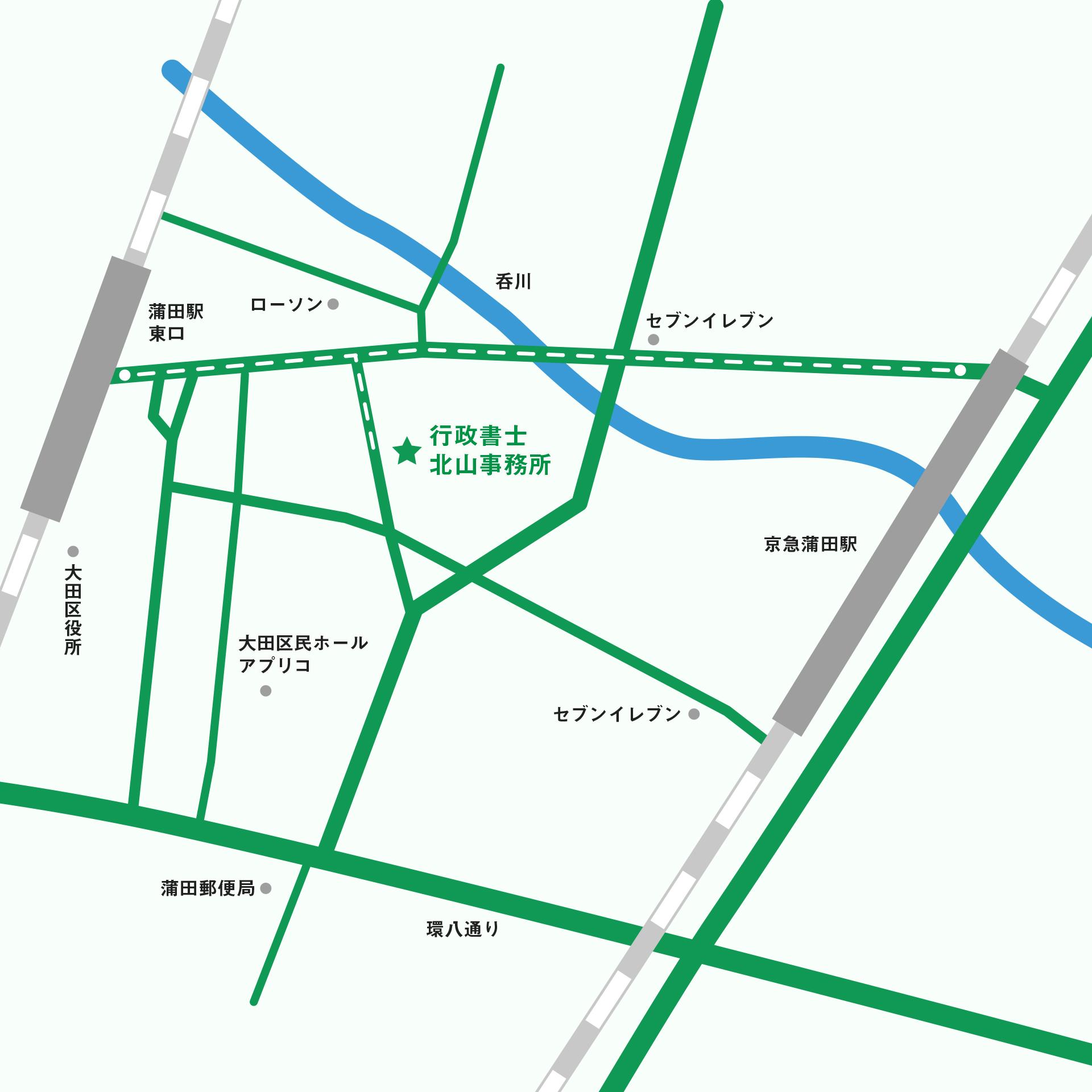 北山事務所アクセスマップ